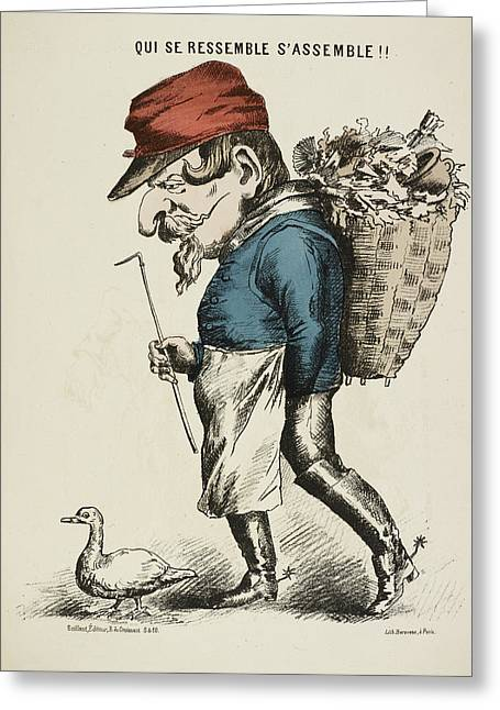 French Caricature Greeting Card by British Library