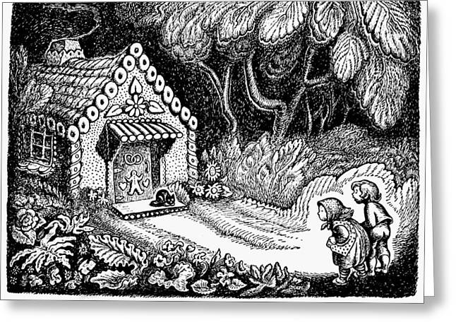 Grimm Hansel And Gretel Greeting Card