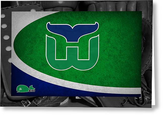 Hartford Whalers Greeting Card by Joe Hamilton