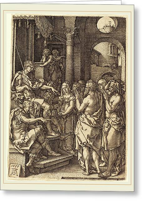 Heinrich Aldegrever German, 1502-1555-1561 Greeting Card by Litz Collection