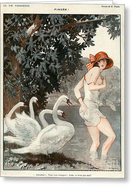 La Vie Parisienne  1923 1920s France Greeting Card