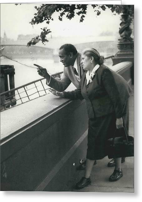 Paul Robeson Goes Sightseeing In London Greeting Card by Retro Images Archive
