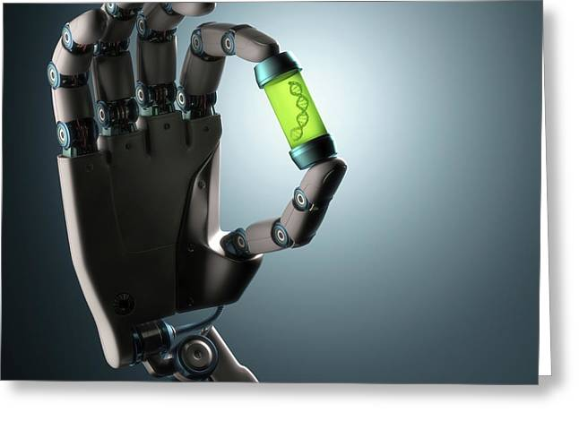 Robotic Hand Greeting Card by Ktsdesign