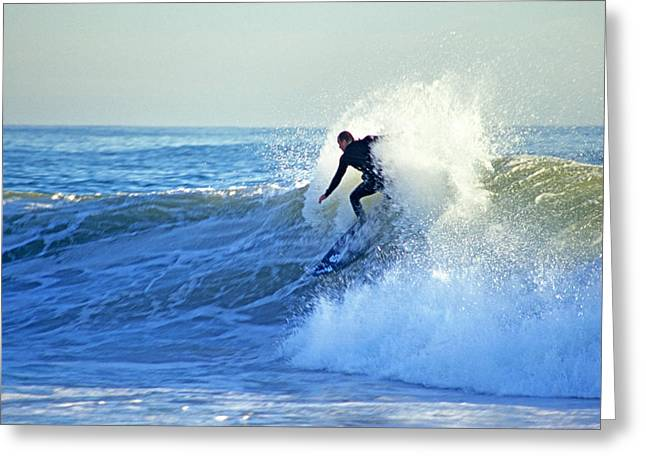 Surfing Greeting Card by Elijah Weber