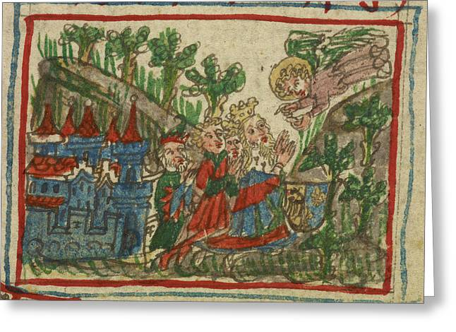 Travels Of Sir John De Mandeville Greeting Card by British Library