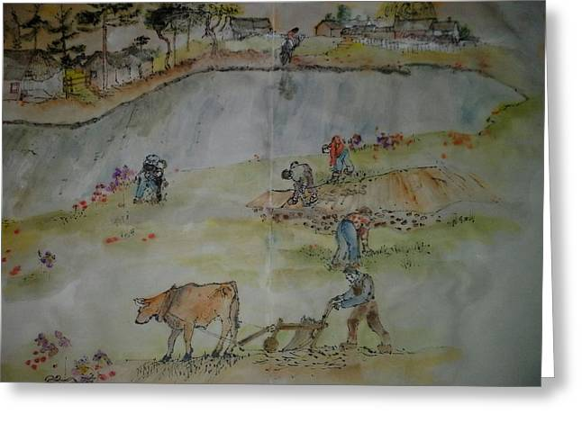 Van Gogh My Way Album Greeting Card by Debbi Saccomanno Chan