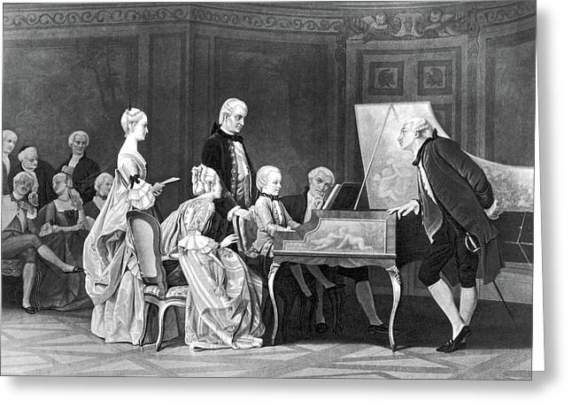 Wolfgang Amadeus Mozart (1756-1791) Greeting Card by Granger