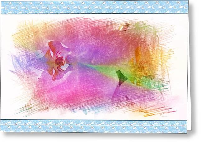 Purple Corolla Greeting Card