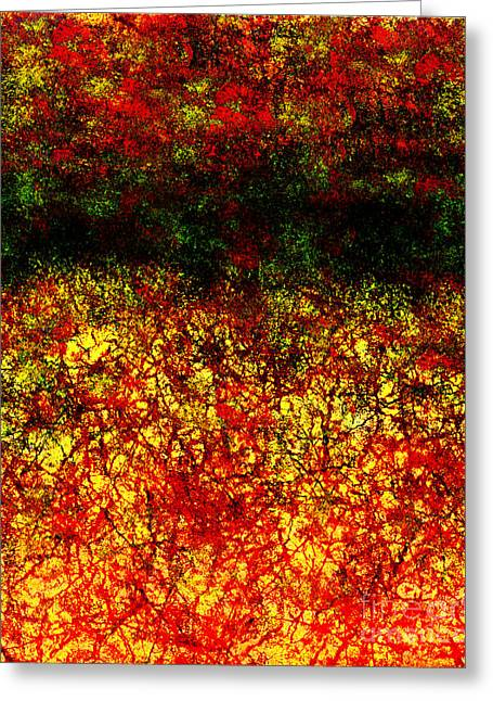 1437 Abstract Thought Greeting Card by Chowdary V Arikatla