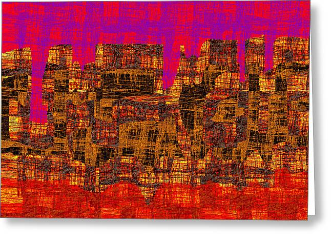 1457 Abstract Thought Greeting Card by Chowdary V Arikatla