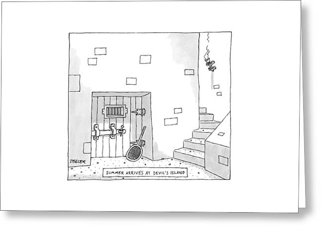 Captionless Greeting Card by Jack Ziegler