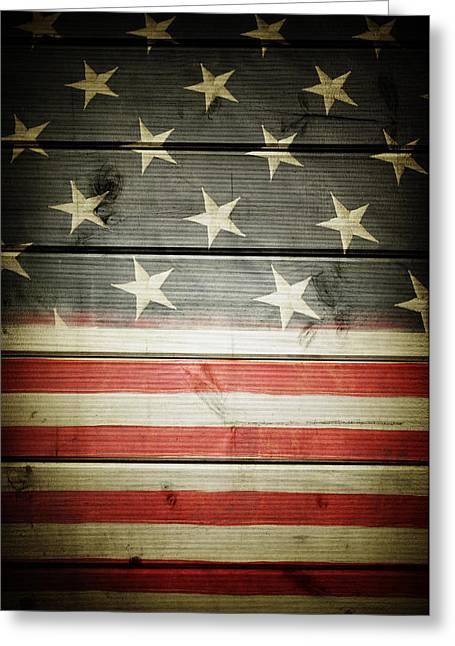 American Flag 58 Greeting Card