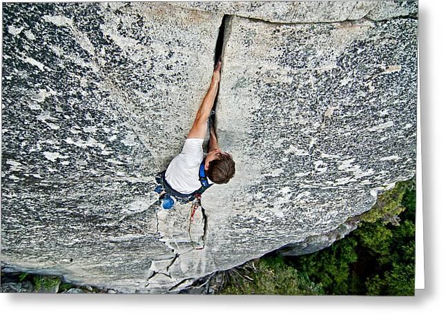 Climber Greeting Card by Elijah Weber