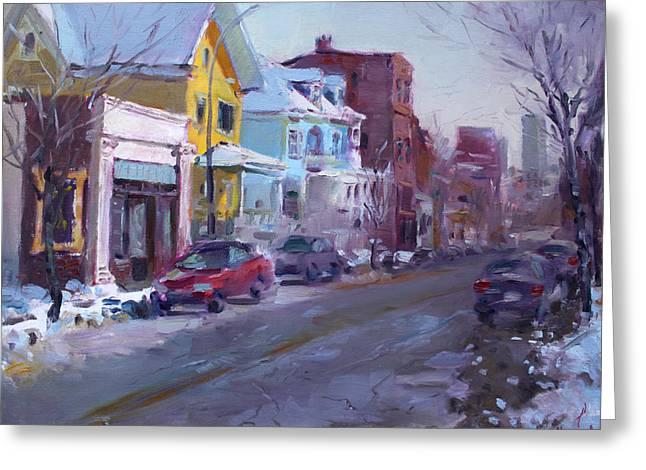 149 Elmwood Ave Savoy Greeting Card by Ylli Haruni
