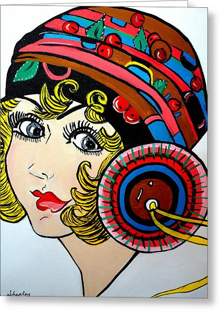 Art Deco  Ann Greeting Card