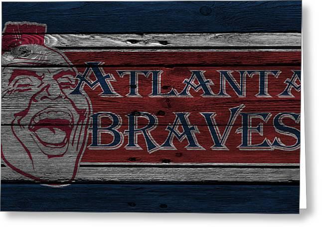 Atlanta Braves Greeting Card by Joe Hamilton