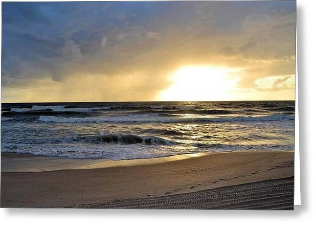 Beach Greeting Card by William Watts