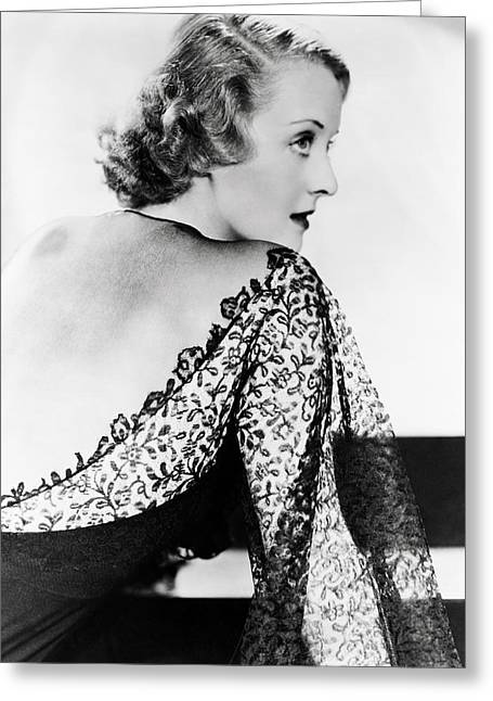 Bette Davis Greeting Card by Silver Screen