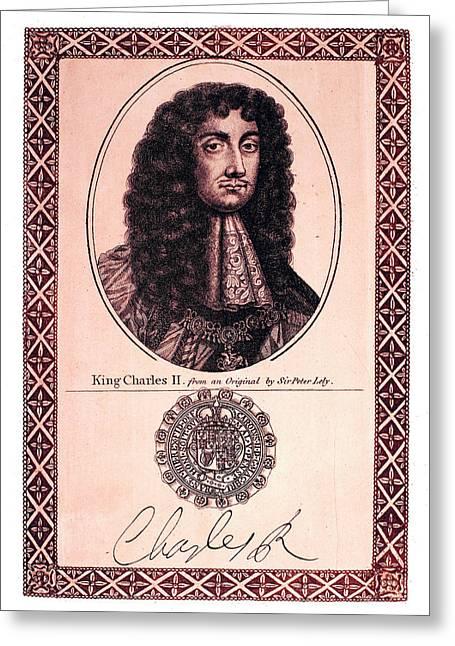 Charles II (1630-1685) Greeting Card by Granger
