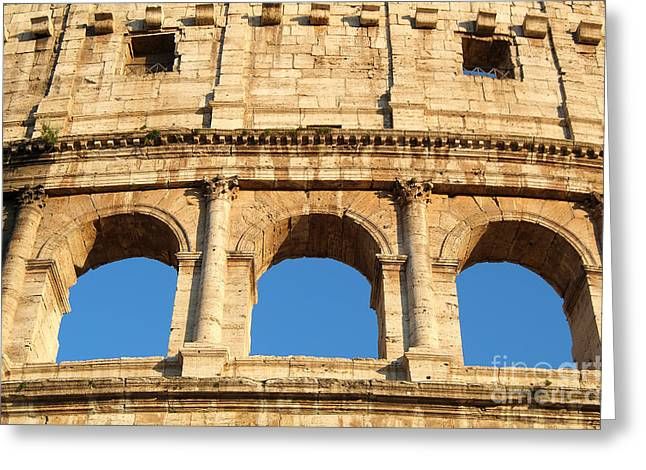 Colosseum In Rome Greeting Card by George Atsametakis