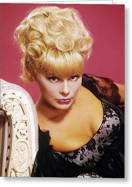 Elke Sommer Greeting Card by Silver Screen