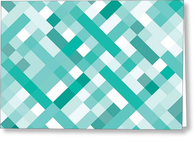 Geometric Greeting Card by Mike Taylor