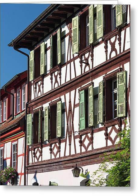 Germany, Baden-wurttemburg, Black Greeting Card by Walter Bibikow