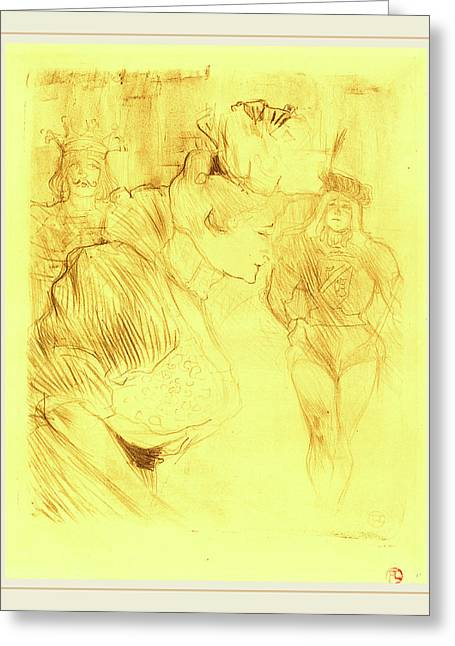 Henri De Toulouse-lautrec French, 1864-1901 Greeting Card by Litz Collection