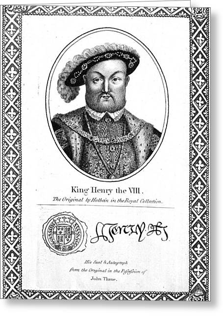 Henry Viii (1491-1547) Greeting Card by Granger