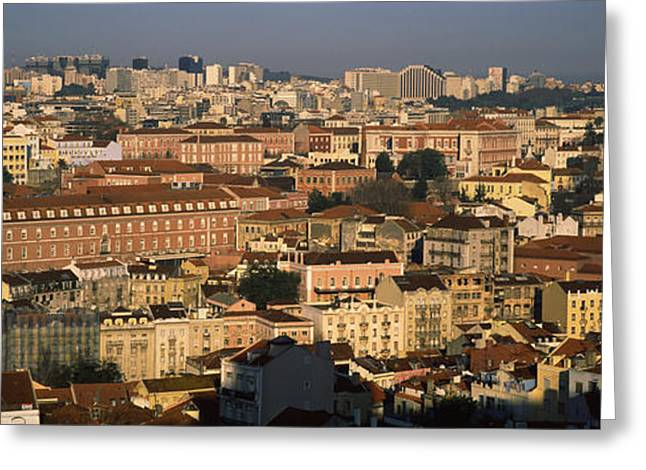 High Angle View Of Buildings In A City Greeting Card by Panoramic Images