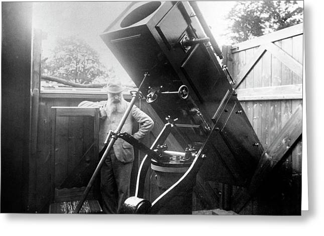 15-inch Reflector Telescope Greeting Card by Royal Astronomical Society