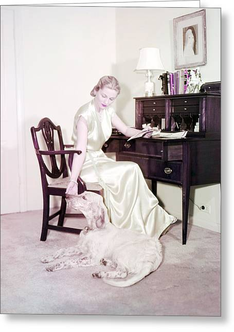 Joan Fontaine Greeting Card by Silver Screen