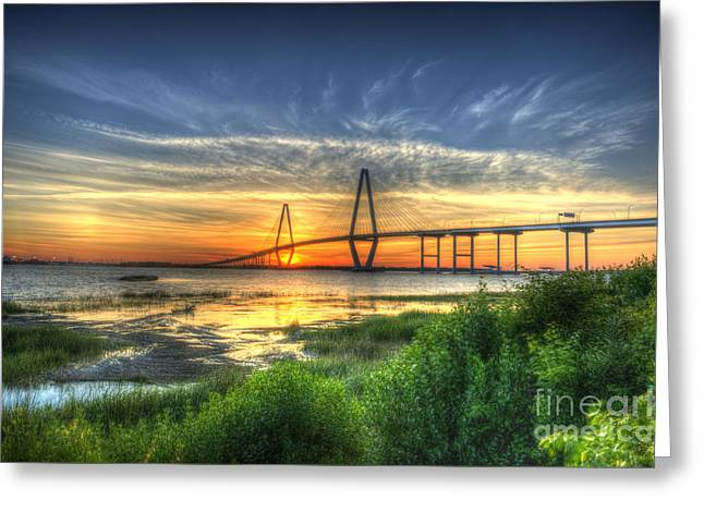Lowcountry Sunset Greeting Card