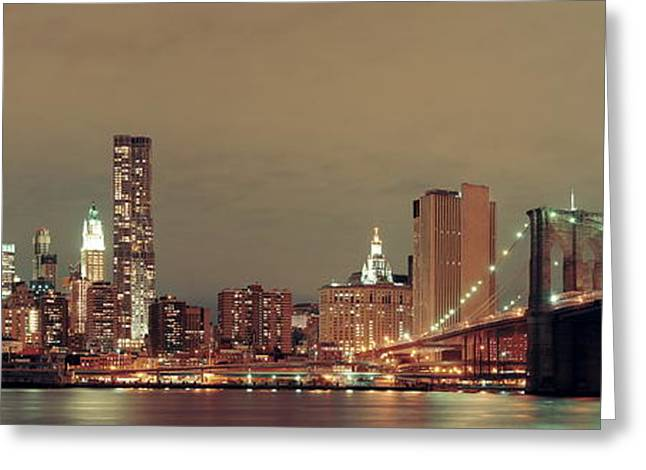 Manhattan Downtown Greeting Card
