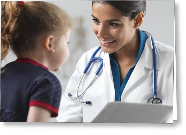 Paediatric Examination Greeting Card by Science Photo Library