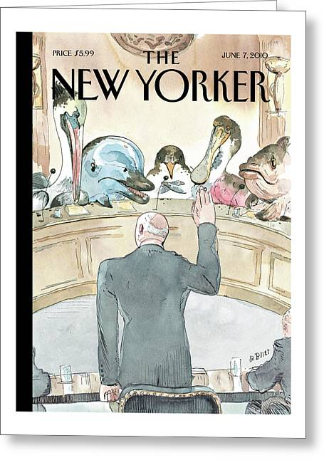 New Yorker June 7th, 2010 Greeting Card