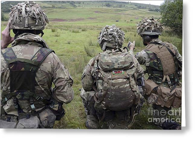 Welsh Guards Training Greeting Card by Andrew Chittock