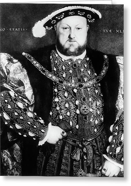 1500s 1540 Portrait Of King Henry Viii Greeting Card