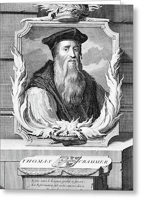 1500s Thomas Cranmer Archbishop Greeting Card