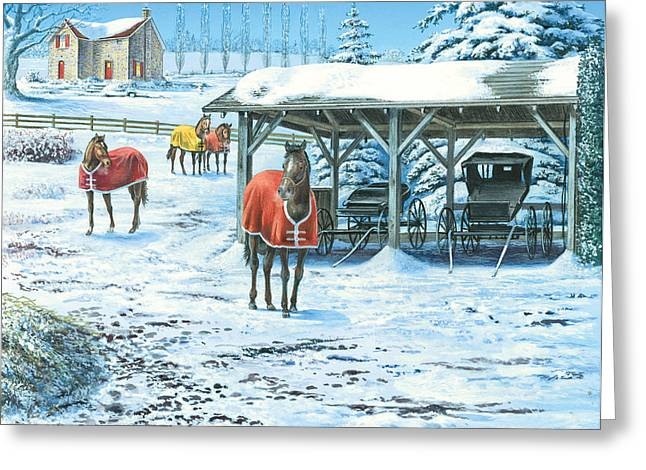 Brisk Winter Days Greeting Card