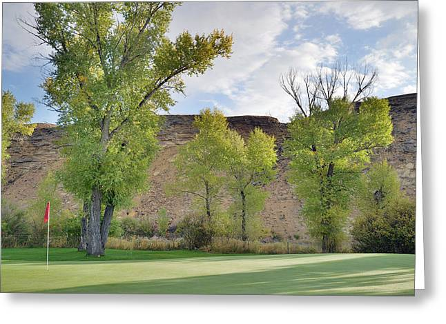 15th Green Morning Greeting Card by Eric Nielsen