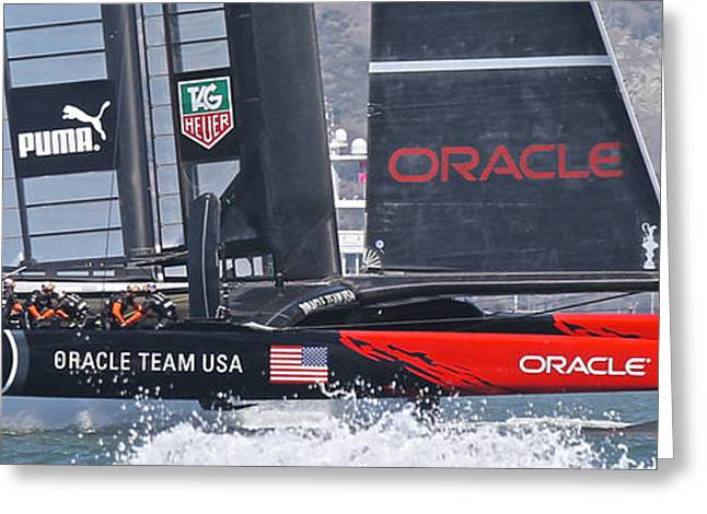 America's Cup Oracle Greeting Card