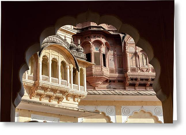 Architectural Detail Greeting Card by Tom Norring