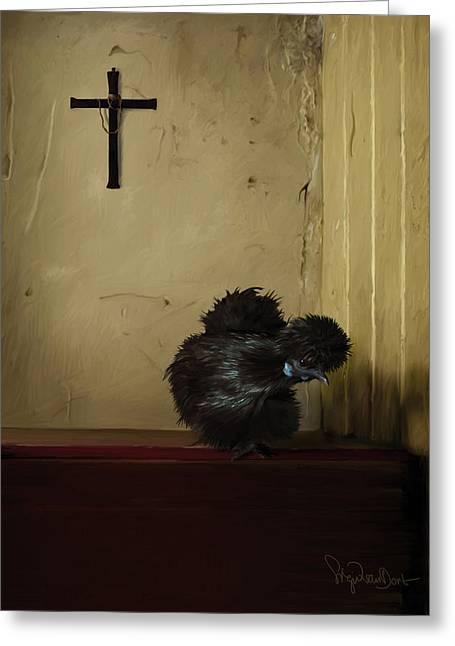 16. Black Silkie Greeting Card