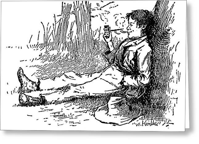Clemens Huck Finn Greeting Card by Granger