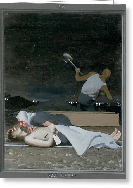 16. Jesus Is Buried / From The Passion Of Christ - A Gay Vision Greeting Card by Douglas Blanchard