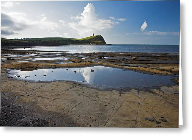 Greeting Card featuring the photograph Kimmeridge Bay In Dorset by Ian Middleton