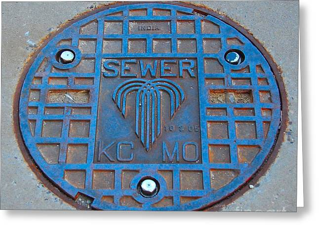 Man Hole Covers Kc Greeting Card