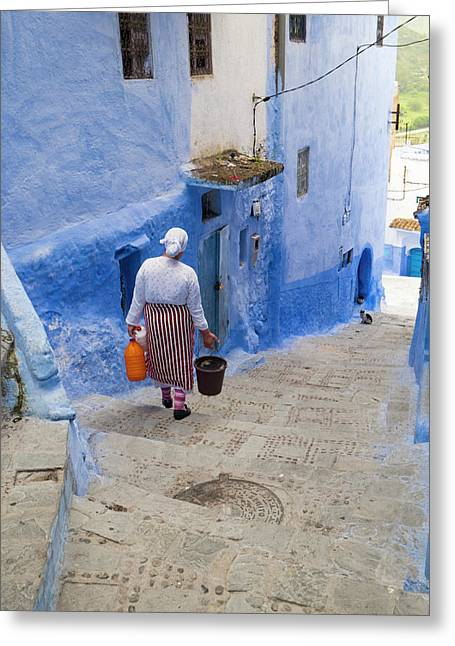 Morocco, Chefchaouen Or Chaouen Greeting Card by Emily Wilson
