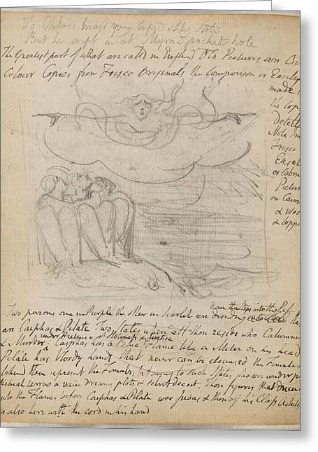 Notebook Of William Blake Greeting Card